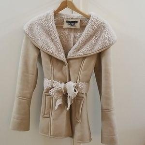 Faux Suede Sherpa Zara coat